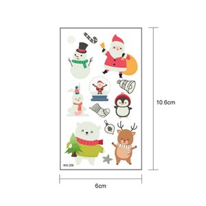 Christmas Cartoon Santa Claus Luminous Tattoo Sticker New Year Gifts Xmas Kids Gifts Natal Merry Christmas Decoration For Home jllyBt