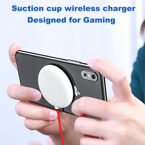 NEW Spider Suction Cup Wireless Charger For iPhone XR XS Portable Fast Wireless charging Pad For Samsung Absorption Wireless Charger DHL
