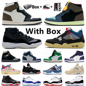 New White Cement Bred air jordan retro 4 4s IV What The Cactus Jack Cool Gray Herren-Basketball-Schuhe FIBA ​​UNC Pilz Denim Blue Men Sports Designer-Turnschuhe