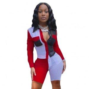 İki adet Kadınlar ayarlar eşofman Patchwork Bluzlar Diz Boyu Jogger Sweatpants Suit Sportif Spor 2 Adet Set Kıyafet Tops