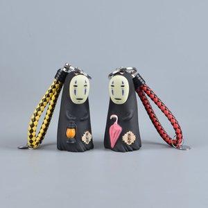 Koteta استوديو غيبلي لا وجه رجل نموذج PVC الشكل العمل ميازاكي هاياو أنيمي سلسلة المفاتيح 8CM الديكور دمية لعب اطفال عيد الميلاد