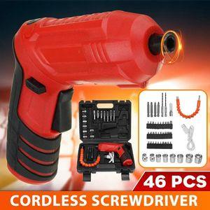 USB Mini Cordless Screwdriver Electric Drill Hole Electrical Screwdriver Hand Driver Wrench Power Tools