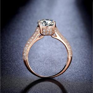 Luxo novas jóias Victoria Wieck 8ct Rose Wedding Solitaire 11 milímetros Branco Sapphire Simulado Diamante Gold Crown banda mulheres Anéis presente