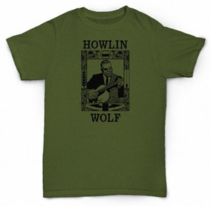 هوولين WOLF T SHIRT DELTA BLUES SOUL JAZZ CHESS فينيل EGLg #