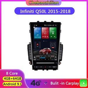 Accesorios de GPS de coche 4G red con reproductor de navegación Carplay para Infiniti Q50 Q50L QX50L 2021-2021 Radio estéreo WiFi multimedia Bluetooth 64G