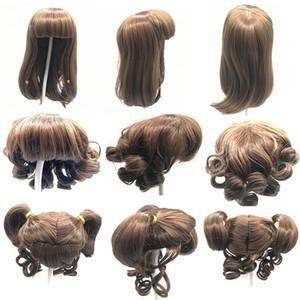 Cabelo dourado para 48-58cm boneca rebornada colhido peruca de cabelo longo fits19--23inch silicone renascido bebê bonecas enrolar cabelo diy boneca acessório q1111
