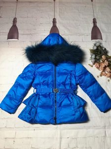 2020 Chaqueta de invierno Niño Snowsuit Girl Jackets + Pantalón Girl Trate Real Piel Outer Outerwear Parka Snowsuit Ski Traje Niño Invierno Apagado