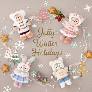 Escuela de gato Tokio Navidad del invierno StellaLou limitada colgante Duffy oso Shirley mayo de Tony bolsa colgante muñeca de la felpa 02