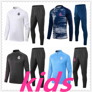 tuta real madrid kids fc real madrid jersey soccer tracksuit designers clothes kids football kits 20 21 survetement foot chandal futbol soccer jersey football jerseys