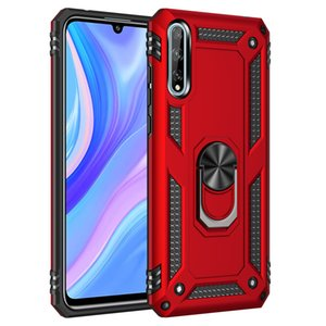 Aristocratic Solid Ring Ultra-Thin Exquisite Hard PC Back Cover Popular Protective Sticker Case For Huawei Y8P   P Smart S   Enjoy 10S