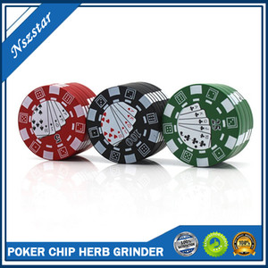 Poker Design Style 40 mm 3 Layer Cheap Metal Zinc Alloy Herb Grinder Aluminium Tobacco Crusher Smoking Accessories DHL Fast FREE Shipping