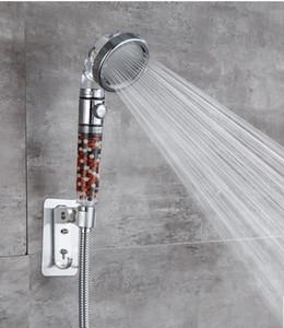 샤워 헤드 조정 가능한 3 모드 핸드 샤워 고압 물 샤워 헤드를 멈추기 위해 한 버튼을 절약