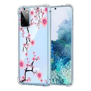 클리어 얇은 TPU 케이스 아이폰 (12) 미니 (11 개) 프로 맥스 X가 XR 7 8 플러스 회화 에어 쿠션 꽃
