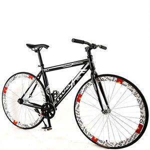 Bisiklet Bisiklet Yol Bisikleti Sabit Dişli Kas Çerçevesi Bükme Yetişkin Erkek Ve Kadınlar Yarış Sağlam Lastik Tek Hız