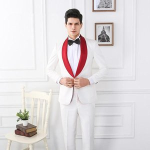 High Quality One Button Groomsmen Shawl Lapel Groom Tuxedos Men Suits Wedding Prom Best Man Blazer ( Jacket+Pants+Tie) T07