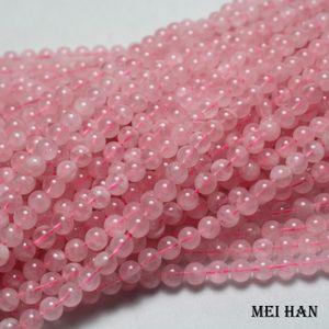 Meihan Wholesale natural (3strand set) Madagascar pink quartz 6mm round gem stone loose beads for jewelry making design Q1106