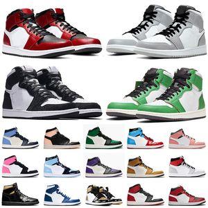 nike air jordan retro 1 1s off white Top 1 1s JUMPMAN TWIST Mid Chicago Toe hommes chaussures de basket-ball fumée légère gris rose Quartz femmes formateurs baskets