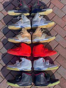 Kanye West 1 Blink Net Tan Zen Grey Men Baloncesto Zapatos de baloncesto Botas Atletismo 2 II Solar Red NRG Rojo Octubre Zapatillas deportivas Zapatillas deportivas