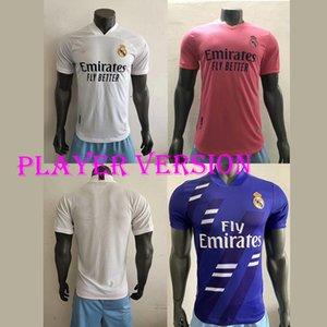 20 21 Versão jogador do Real Madrid raça humana COLEÇÃO Futebol VALVERDE RODRGO camiseta 2020 2021 VINI camisas de futebol equipamentos