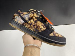 2020 Basso Giallo Nero SB Dunk Scarpe Uomo Moda Uomo comodo all'aperto Trainer Sneakers 536.356-002 X009