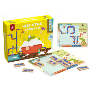 Playful Challenges Children Educational Toys Help Little Crocodile Bathing Maze Game Puzzle Training Thinking Toy Gift