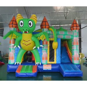 5.5x5x4mH Inflatable Bouncer Inflatable Jumping castle,commercial little dragon bounce bouncy House slide combo