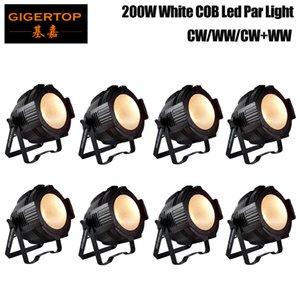 200W LED Par Light White COB Disco Wash Световое оборудование 2 канала DMX 512 LED Аплайты Strobe Stage Lighting Effect Light