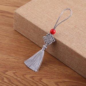 5 Unids Beads Red Mini Knot Chino Tassel DIY Accesorios de Joyería DIY Casa Textil Cortina Ropa Costura Macrame Decoración Colgante H Jllona