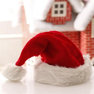 Christmas Santa Claus Hats Red And White Cap Party Hats For Santa Claus Costume Christmas Decoration For Kids Adult Christmas Hat