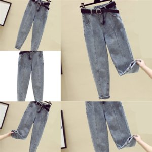 LPO Fashion Lady Jeans Den Ripped Señoras lavadas Fringed Street Jeans Sexy