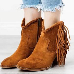 Cinessd Fashion Donne Boots Primavera Autunno Mid Tacchi Scarpe per Fibbia Femminile Fibbia Daily Daily Stivali corti PU caviglia in pelle PU