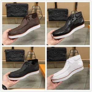 Novos designers de luxurys mods botas de tornozelo andando top grão couro homem mulheres sapatos altos ebony tênis causais clássicos tamanho38-44 #