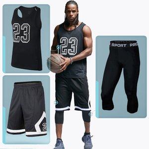 Bintuoshi 3pcs ropa de la aptitud de deporte masculino Gimnasio Establece Baloncesto Jersey Traje de Entrenamiento Running Ropa Hombres