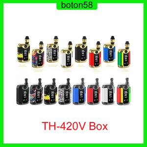 Original Kangvape TH420 Starter Kit II 650mAh Adjustable Voltage TH420 Starter Kit Battery Box Mod 0.5ml Thick Oil CE3 Cartridge Tank