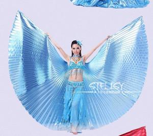 Ayarlanabilir Boyun Yaka Sıcak Worldwide YIvN # ile Toptan-1pcs Altın Mısır Kostüm Isis Göbek Dansı Wings Dance Wear Kanat