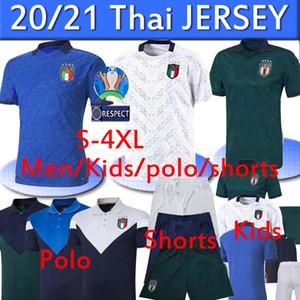 2020 Italie Coupe d'Europe de football Jersey 20 21 Jorginho EL Shaarawy BONUCCI INSIGNE BERNARDESCHI FOOTBALL PIERO short polo uniforme 4XL