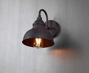 Настенные светильники Открытый водонепроницаемый ретро Промышленные светодиодные настенные светильники Внутреннее освещение для бара Living Room Cafe Nordic Vintage Подсвечник