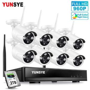 8ch واي فاي كيت nvr كيت hd 960 وعاء نظام الكاميرا CCTV 1.3MP في الهواء الطلق للماء IP كاميرا اللاسلكية الأمن المنزلية المراقبة الفيديو 1