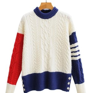 Fall 2020 FF - 200 Europe and the United States women's new hit more color sleeve leisure round collar knitted pullovers