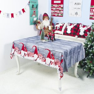 Tablecloth Christmas Polyester Rectangular Table Cover Holiday Party Home-deco ZW2X
