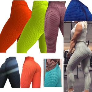 Donna senza saldatura Peach Bottom stirata Sport Gym pantaloni calzamaglia sexy spinge verso l'alto vita alta Leggings fitness Workout Yoga Body Plus Size F92901