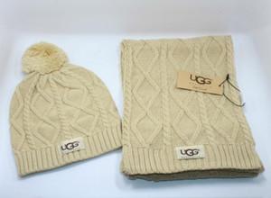 Шарфы наборы зима бренда шапка + шарф и шарф наборы для мужчин, женщин теплые дизайнерские вязаные шапочки и шарфы, шапки наборы 2020