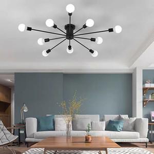 Vintage metal star chandelier lighting retro spider chandeliers semi flush mount ceiling lamp sputnik light fixture home lights SZC-142