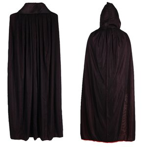 2020 Halloween Factory Outlet Costume Props Vampire Shawl Cloak Red and Black Hooded Stand Collar Two choices of high quality