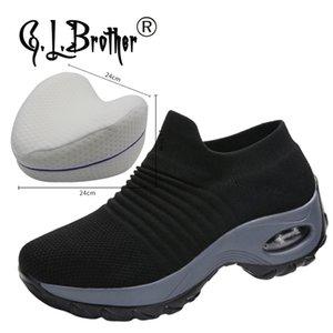 Ortopedik Ayakkabı Hava Caushion Hypersoft Sneakers Kadınlar 2020 Comfort Platformu Sneakers Kadınlar için Günlük Ayakkabılar 1020 tarihinde Kayma