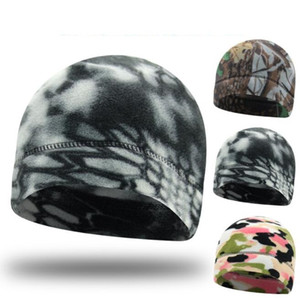 Outdoor camo fleece mask hat bike Bicycle cycling warm beanie cap Balaclava skiing Snowboarding face protective masks tactical amy hats