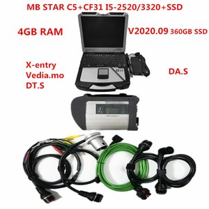 High performance CF31 Toughbook I5-540 2520 3320 4G with v2020.09 soft-ware for MB Star SD Connect Compact 5 Diagnostic tool