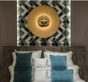 Modern minimalista sala de estar levou lâmpadas de parede alpendre estudo quarto decoração de cabeceira de fundo de parede personalidade de parede de ufo