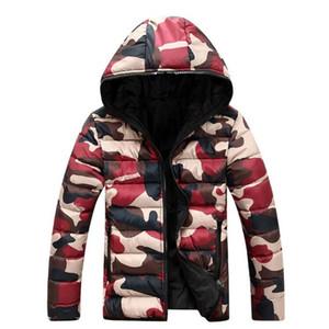 Winter Jacket Men Warm Casual Parkas Cotton Hooded Winter Coats Male Padded Overcoat Outerwear Clothing 3XL Zipper Long Sleeves