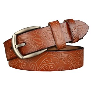 Western Flower Print Leather Women Belt Fashion Jeans Causal Pants Dress Women Belt